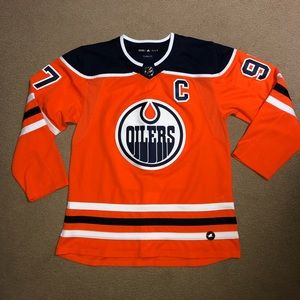 Men's NHL Oilers McDavid adidas Authentic Jersey
